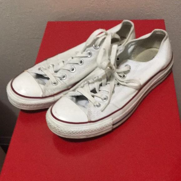 fc5bea7997d515 Converse Shoes - Converse White Low Top Sneakers size 7 Men 9 Women